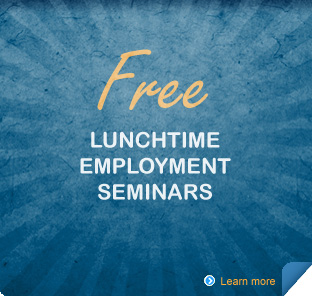 Information regardingFree Lunchtime Employment Seminars given by the CalHR.